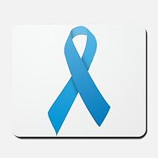 Light Blue Ribbon Mousepad