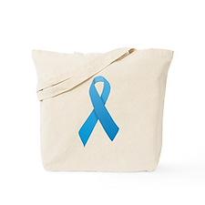 Light Blue Ribbon Tote Bag