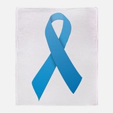 Light Blue Ribbon Throw Blanket