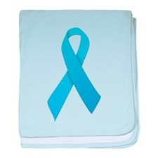 Light Blue Ribbon baby blanket