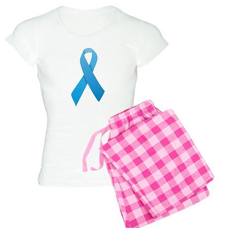 Light Blue Ribbon Women's Light Pajamas