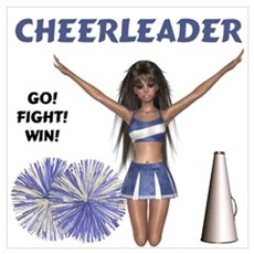 Cheerleader #2 Canvas Art
