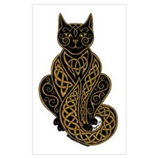 Black Celtic Cat 7 Poster