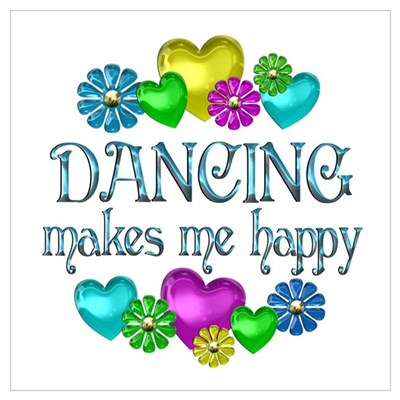 Dancing Happiness Framed Print
