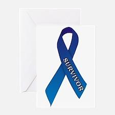 Blue Ribbon 'Survivor' Greeting Card
