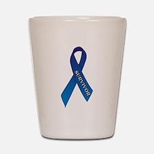 Blue Ribbon 'Survivor' Shot Glass