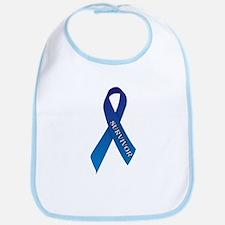Blue Ribbon 'Survivor' Bib