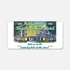 Hollywood Beverly Palms Hotel Aluminum License Pla