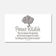 Protect Elephants Car Magnet 20 x 12