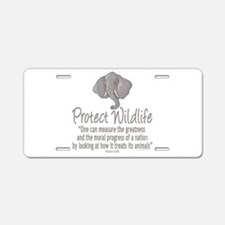 Protect Elephants Aluminum License Plate