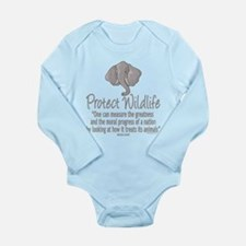Protect Elephants Long Sleeve Infant Bodysuit