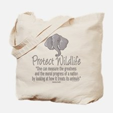 Protect Elephants Tote Bag