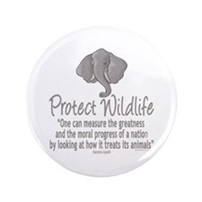 """Protect Elephants 3.5"""" Button (100 pack)"""
