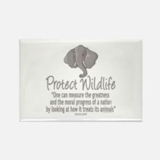 Protect Elephants Rectangle Magnet (10 pack)