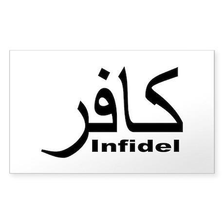 Infidel (1) Sticker (Rectangle)