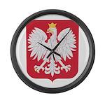 Polish Eagle Crest Large Wall Clock