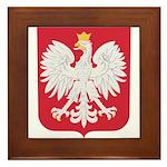 Polish Eagle Crest Framed Tile