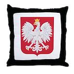 Polish Eagle Crest Throw Pillow