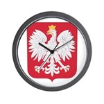 Polish Eagle Crest Wall Clock