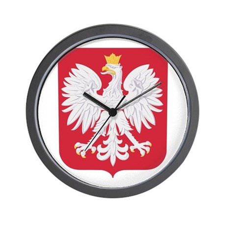 Polish Eagle Crest Wall Clock