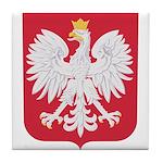 Polish Eagle Crest Tile Coaster