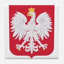 Polish Eagle Crest Tile Coaster