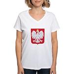 Polish Eagle Crest Women's V-Neck T-Shirt