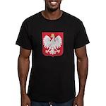 Polish Eagle Crest Men's Fitted T-Shirt (dark)