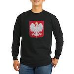 Polish Eagle Crest Long Sleeve Dark T-Shirt
