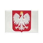 Polish Eagle Crest Rectangle Magnet (100 pack)