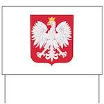 Polish Eagle Crest Yard Sign