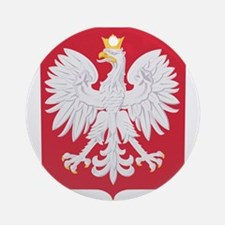 Polish Eagle Crest Ornament (Round)