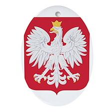 Polish Eagle Crest Ornament (Oval)