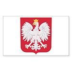 Polish Eagle Crest Sticker (Rectangle 50 pk)