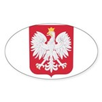 Polish Eagle Crest Sticker (Oval 50 pk)