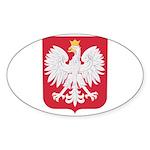 Polish Eagle Crest Sticker (Oval 10 pk)