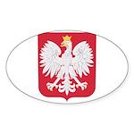 Polish Eagle Crest Sticker (Oval)