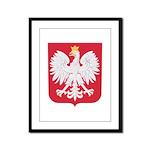 Polish Eagle Crest Framed Panel Print