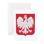 Polish Eagle Crest Greeting Cards (Pk of 10)