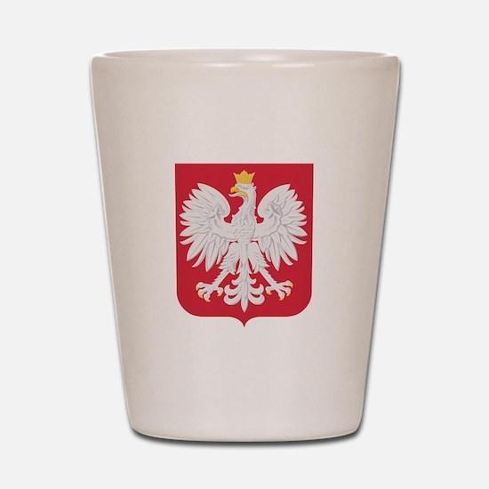 Polish Eagle Crest Shot Glass