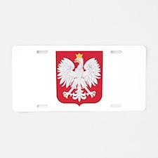Polish Eagle Crest Aluminum License Plate