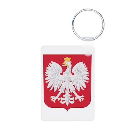 Polish Eagle Crest Aluminum Photo Keychain