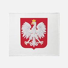 Polish Eagle Crest Throw Blanket