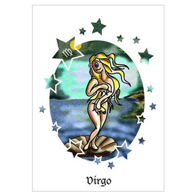 Virgo zodiac sign Poster
