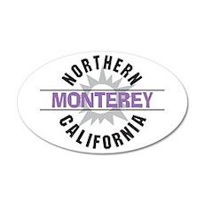 Monterey California 22x14 Oval Wall Peel