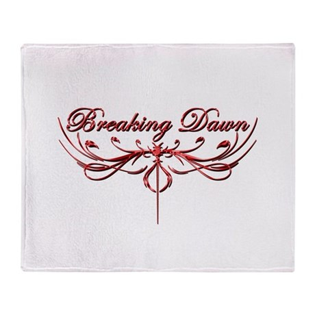 Breaking Dawn Twilight Red Throw Blanket