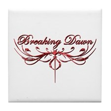 Breaking Dawn Twilight Red Tile Coaster