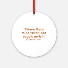 No Vision Ornament (Round)