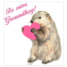 Be Mine, Groundhog Framed Print