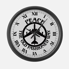 B-52 Peace the Old Fashioned Way Large Wall Clock